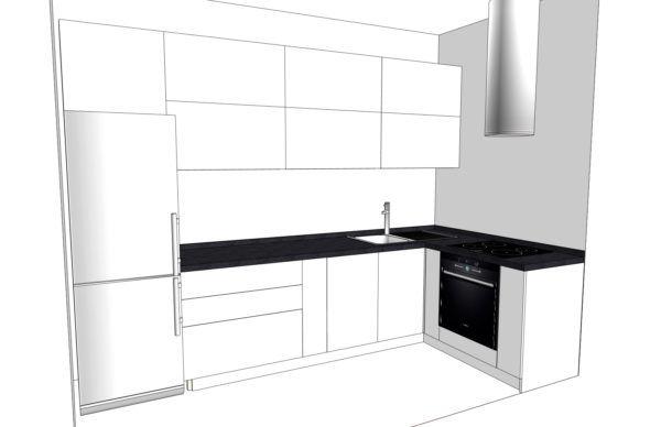 Конфигурация кухни Basic (мдф глянец) — 7