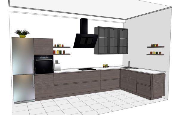 Конфигурация кухни Basic (мдф шпон) — 6