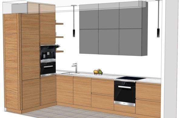 Конфигурация кухни Basic (мдф шпон) — 1