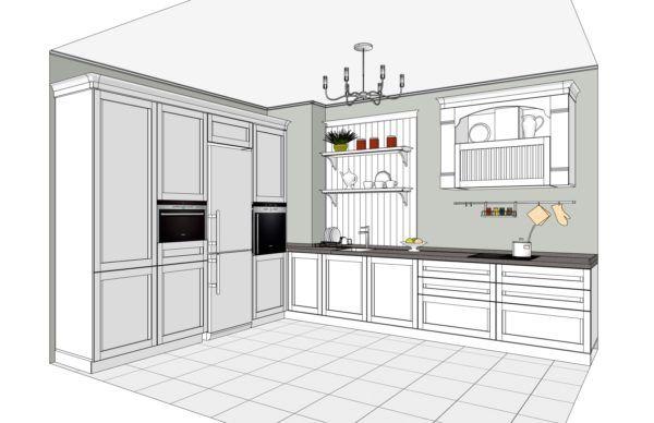 Конфигурация кухни Provence — 1