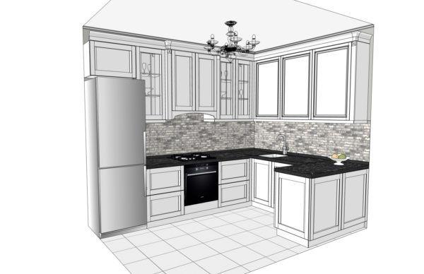Конфигурация кухни Cristal — 1