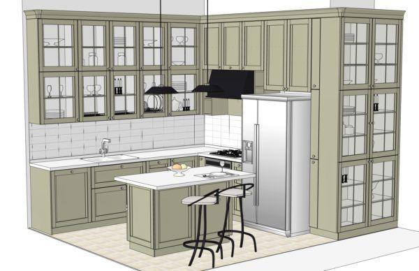Конфигурация кухни City — 1
