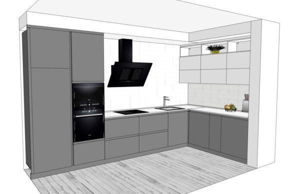 Конфигурация кухни Basic (мдф глянец) — 3