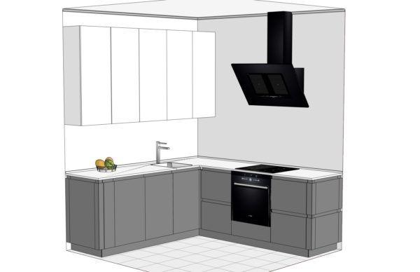 Конфигурация кухни Basic (мдф шпон) — 2
