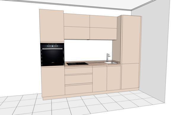 Конфигурация кухни Basic (мдф шпон) – 4