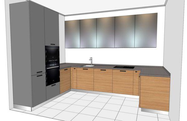 Конфигурация кухни Basic (мдф шпон) — 5