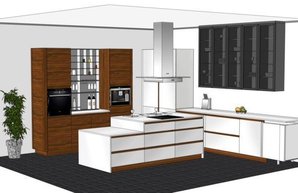 Конфигурация кухни Basic (мдф глянец) — 2