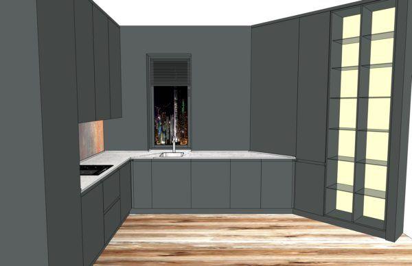Конфигурация кухни Basic (мдф шпон) — 3