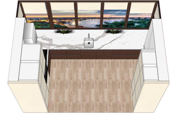Конфигурация кухни Basic (мдф шпон) — 7