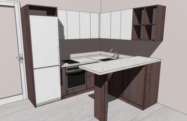Конфигурация кухни Moon